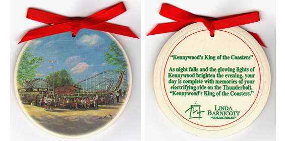 Kennywood S King Of The Coasters Ceramic Ornament