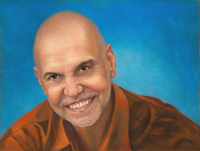"""Linda's painting """"Dr. Ken Gargaro"""""""