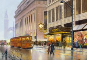 """Meet Me Under Kaufmann's Clock, Too!"" by Linda Barnicott, Pittsburgh's Painter of Memories"