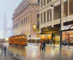 """Meet Me Under Kaufmann's Clock, Too!"" by Linda Barnicott, Pittsburgh's Painter of Memories"