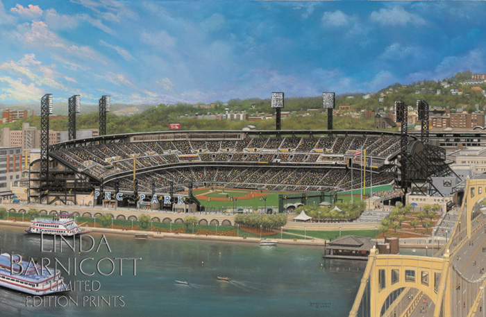 """Let's Go Bucs at PNC Park"" by Linda Barnicott, Pittsburgh's Painter of Memories"