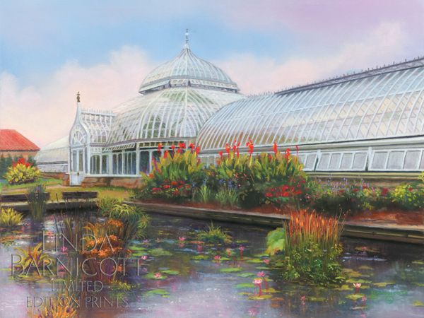 """Oasis of Beauty at Phipps"" by Linda Barnicott, Pittsburgh's Painter of Memories"