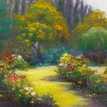 """Rose Garden,"" a landscape by Linda Barnicott"