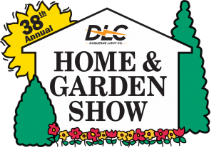 The photo features the logo for the 38th Annual Duquesne Light Co. Home & Garden Show.