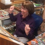 Linda Barnicott, Pittsburgh's Painter of Memories, finishes her latest project.
