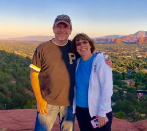 Linda Barnicott with husband Tom in Sedona, Arizona.