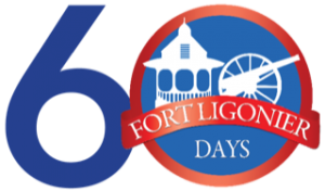 The logo for Fort Ligonier Day's 60th Anniversary
