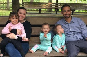 Linda Barnicott's daughter, Alyssa Stadelman, and her family: husband, Jon Stadelman, and daughters Aria, Abigail, and Autumn.